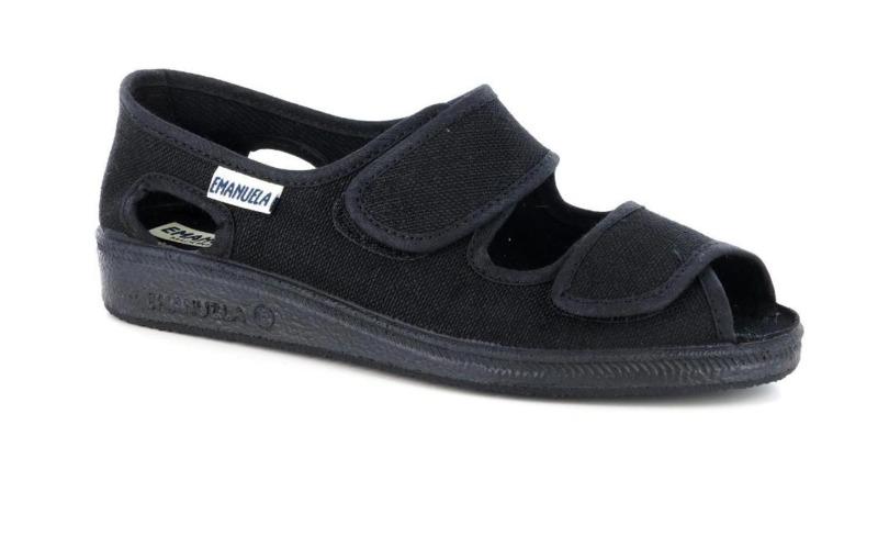emanuela-calzatura-fisiologica-donna-doppio-velcro-col-nero